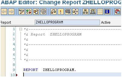 how to write a simple abap program
