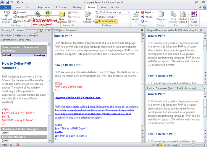 how to join two word documents