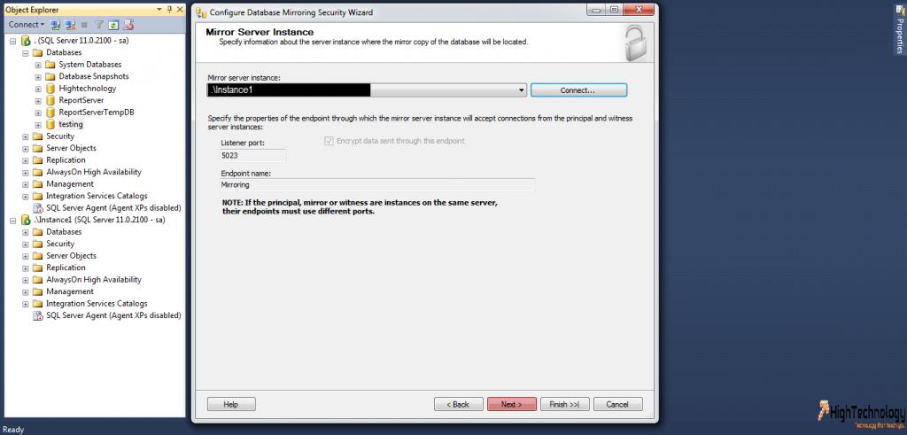 Mirroring In SQL Server 2008 R2