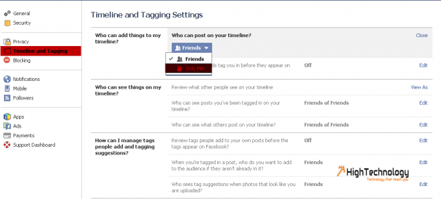 Prevent Users From Posting Photos or Videos to Facebook Timeline