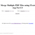 How To Merge Multiple PDF Files using iTextsharp In Asp.Net C#