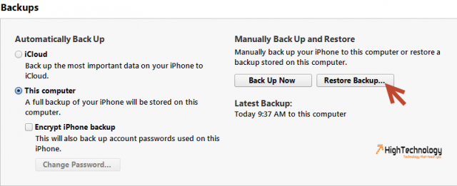Switch Back to iOS after Jailbreak from Backup