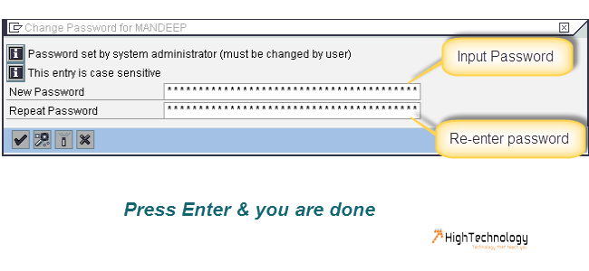 SAP User Password Reset