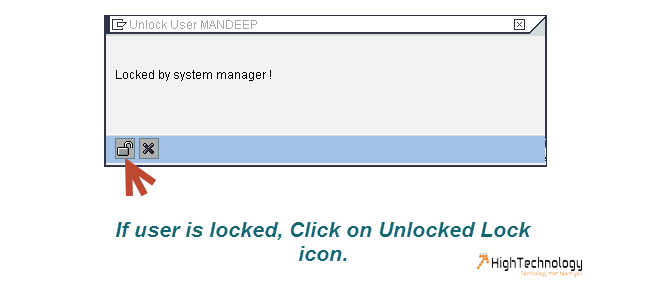 Unlock User In SAP