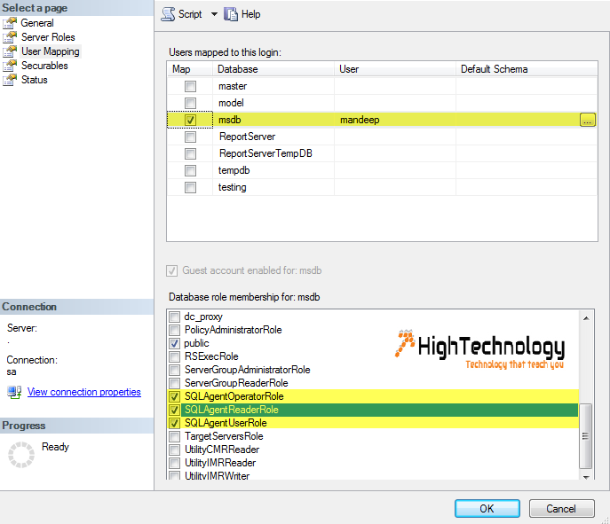 How to Configure User to Create and Manage SQL Server Agent Jobs