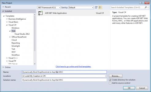 Bind Asp.Net MVC DropDownList Using Entity Framework