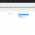 How to Dynamically Bind DropDownList in Asp.Net MVC