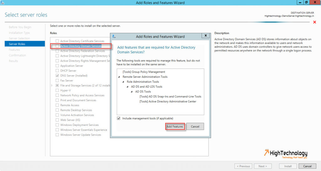 active directory windows server 2012