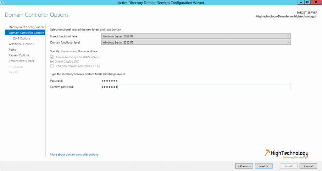 install active directory windows server 2012
