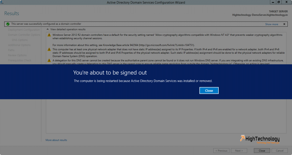 installing active directory on windows server 2012