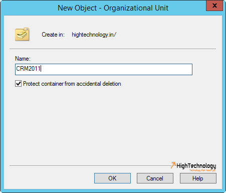 Create a New Organizational Unit in Active Directory In Windows Server