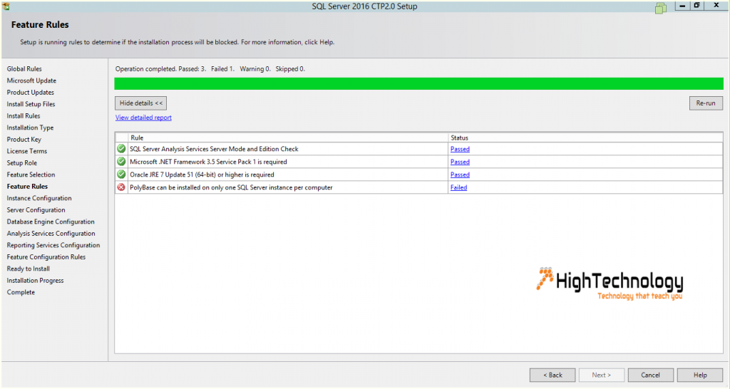 Installing SQL Server 2016