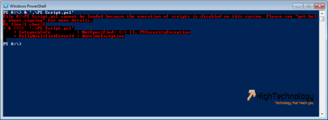Script cannot be loaded because running scripts is disabled