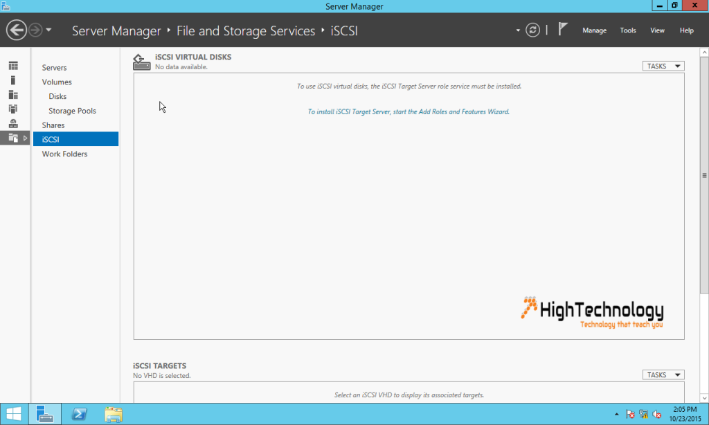 install iSCSI target server
