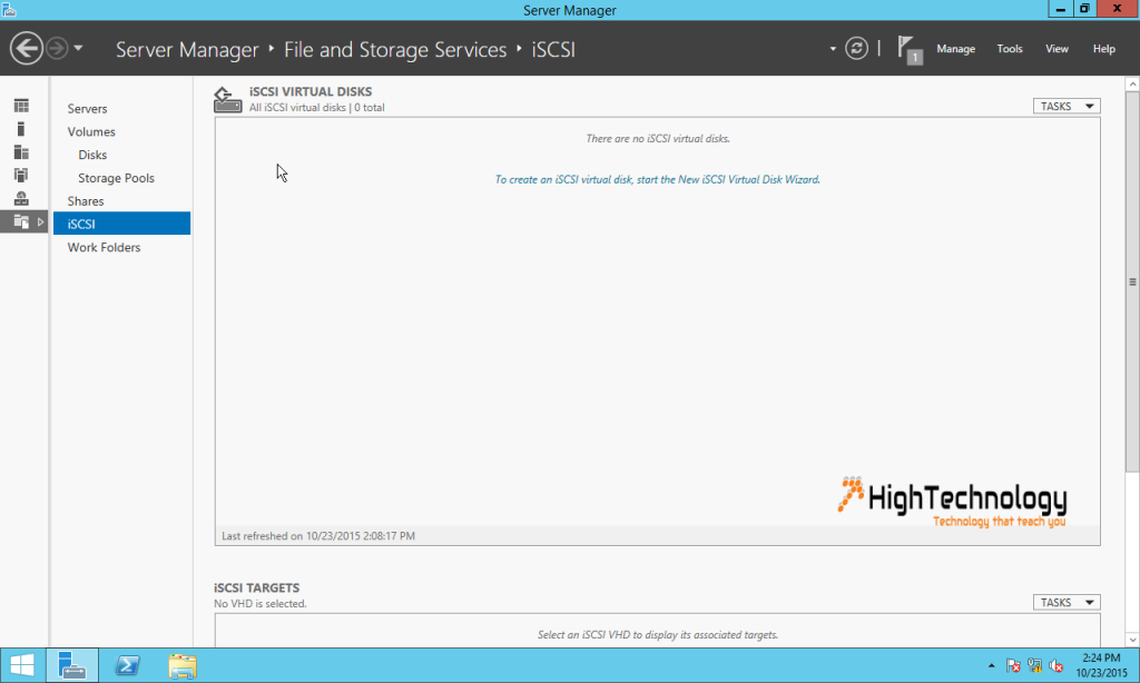 New iSCSI Virtual Disk