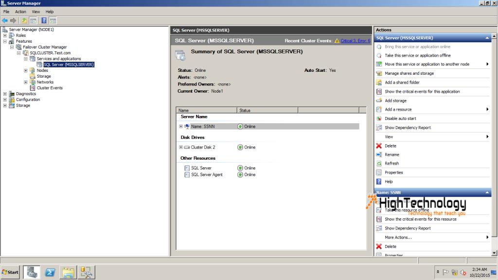 Manual Failover Cluster, how to Manual Failover Cluster in SQL Server, SQL Server Manual Failover Cluster, Manual Failover Cluster in Windows Server 2008 r2