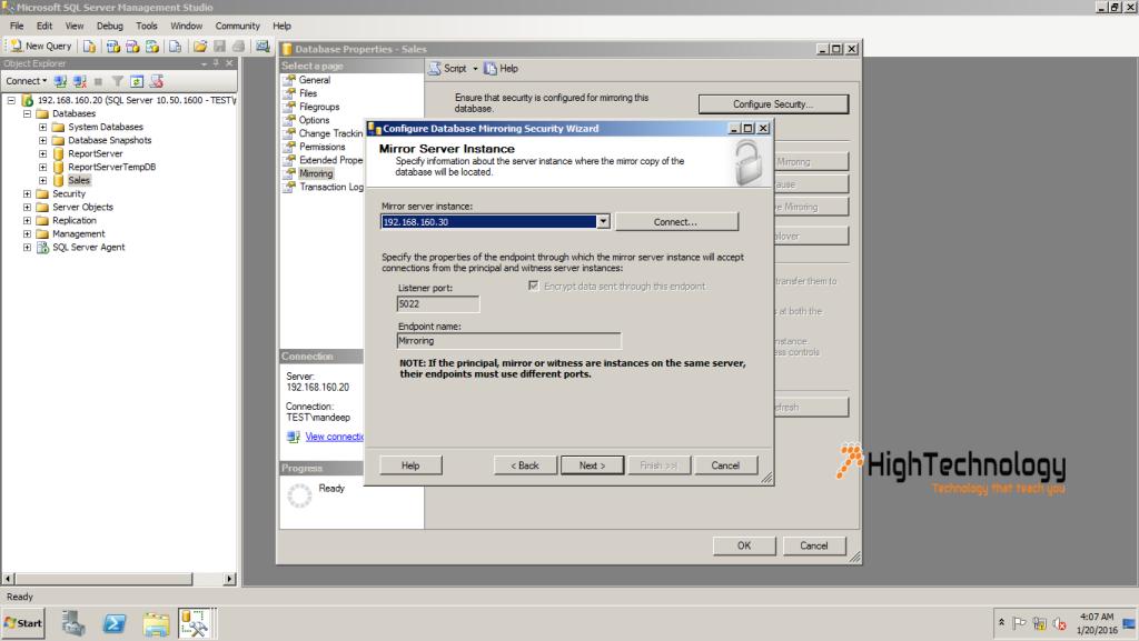 SQL Server Database Mirroring