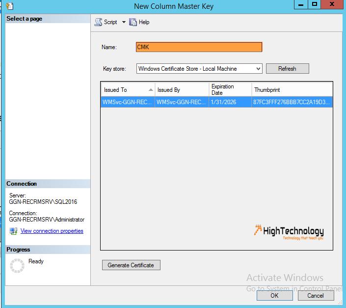 Always Encrypted SQL Server 2016 - HighTechnology