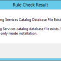 Reporting Services Catalog Database File Existence