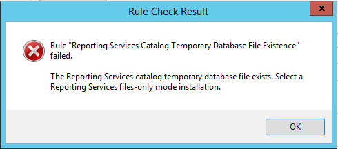 Reporting Services Catalog Temporary Database File Existence