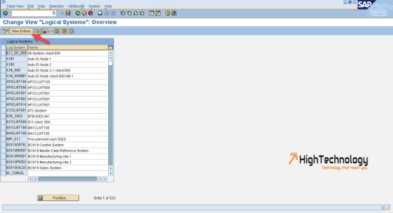create logical system in sap