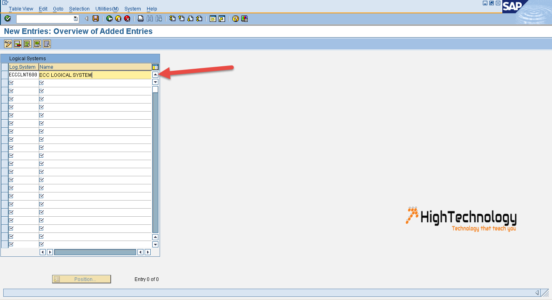 create logical system in sap system