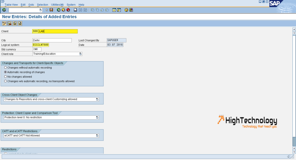 How to Create a New Client in SAP