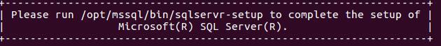 Install SQL Server on Ubuntu