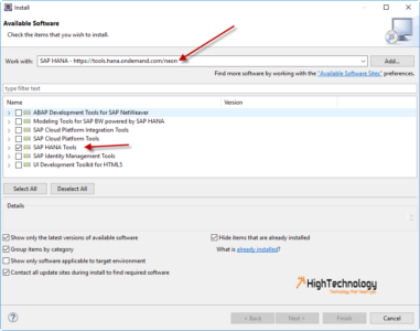 how to install sap hana studio