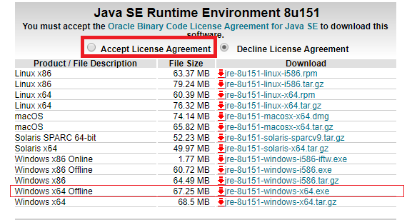 Oracle JRE 7 Update 51 (64-bit) or higher is required for