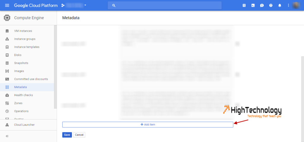 Google cloud console ssh keys