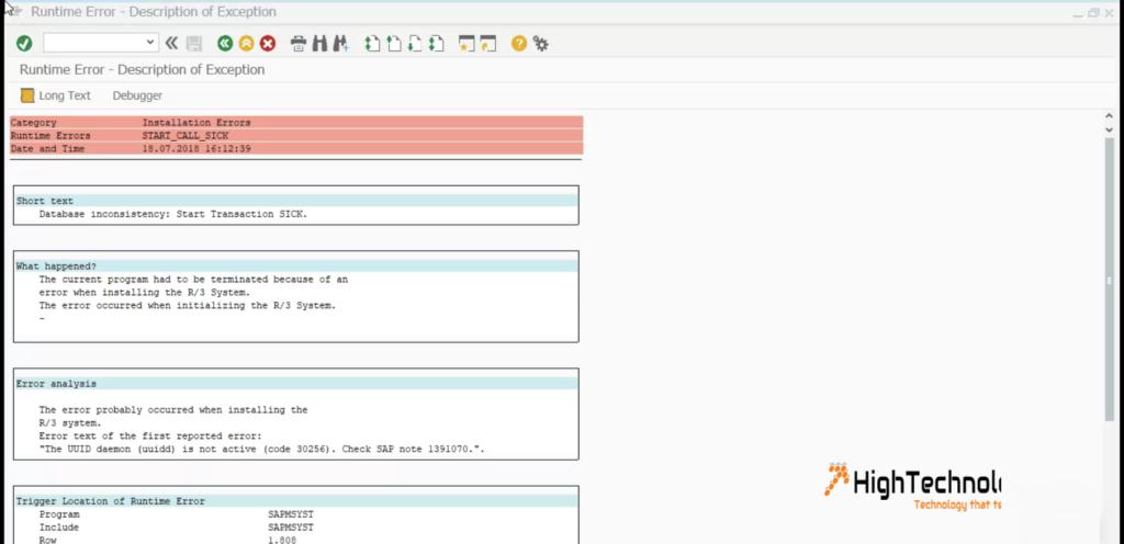 The UUID daemon (uuidd) is not active (code 30256)