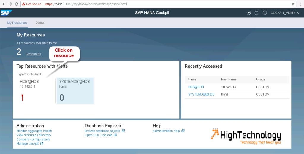 Schedule HANA 2.0 backup using SAP HANA Cockpit 2.0 SPS 06