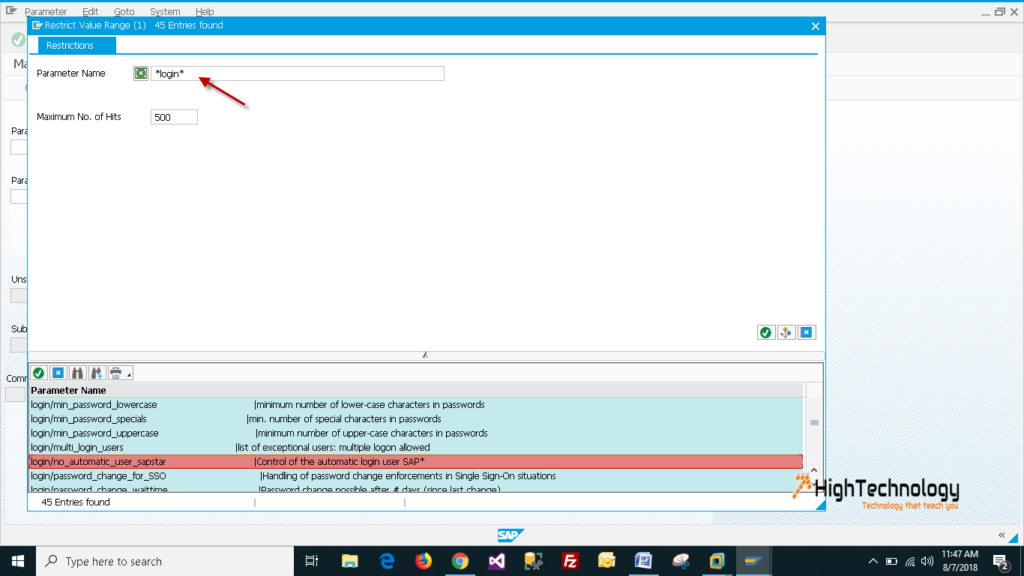 changing a profile parameter 'login/no_automatic_user_sapstar' to '0' in ECC 6.0