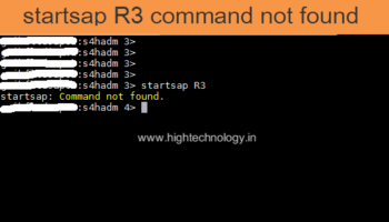 startsap command not found