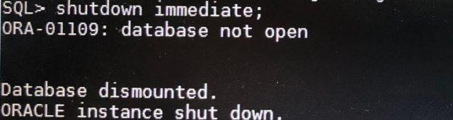shutdown immediate