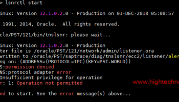 Oracle Listener fails to start, error messages TNS-12555, TNS-12560, TNS-00525